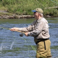 Spey Casting: a group of water-loaded casts...