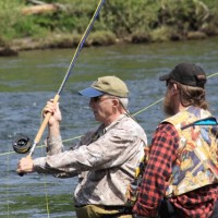Many experienced fishermen patiently gave one-on-one spey casting instruction.