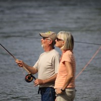 The Smiths who travel the world fishing made it out to the 2010 Spey Clave.